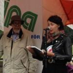 Louise Frisk från Clowner utan gränser håller tal